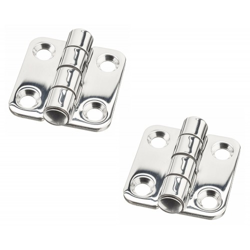 Pair Marine Grade Stainless Steel Mirror Polished Cast Door Hinge for Boat RVs